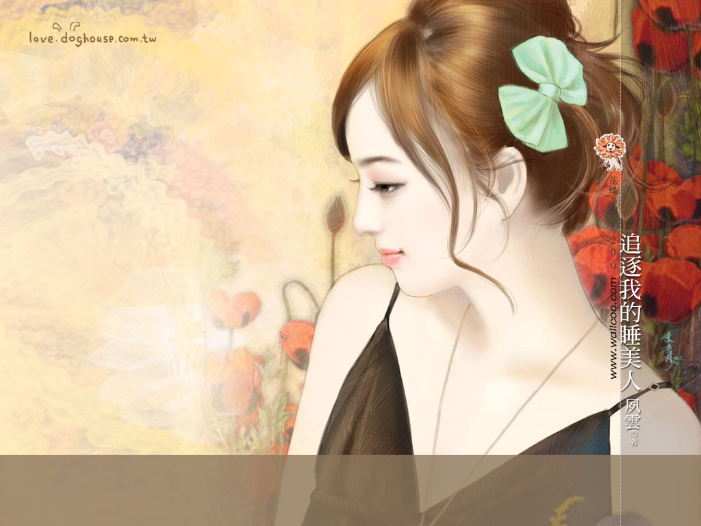 Romance Book Cover Vector : Sweet charming faces girls paintings of romance