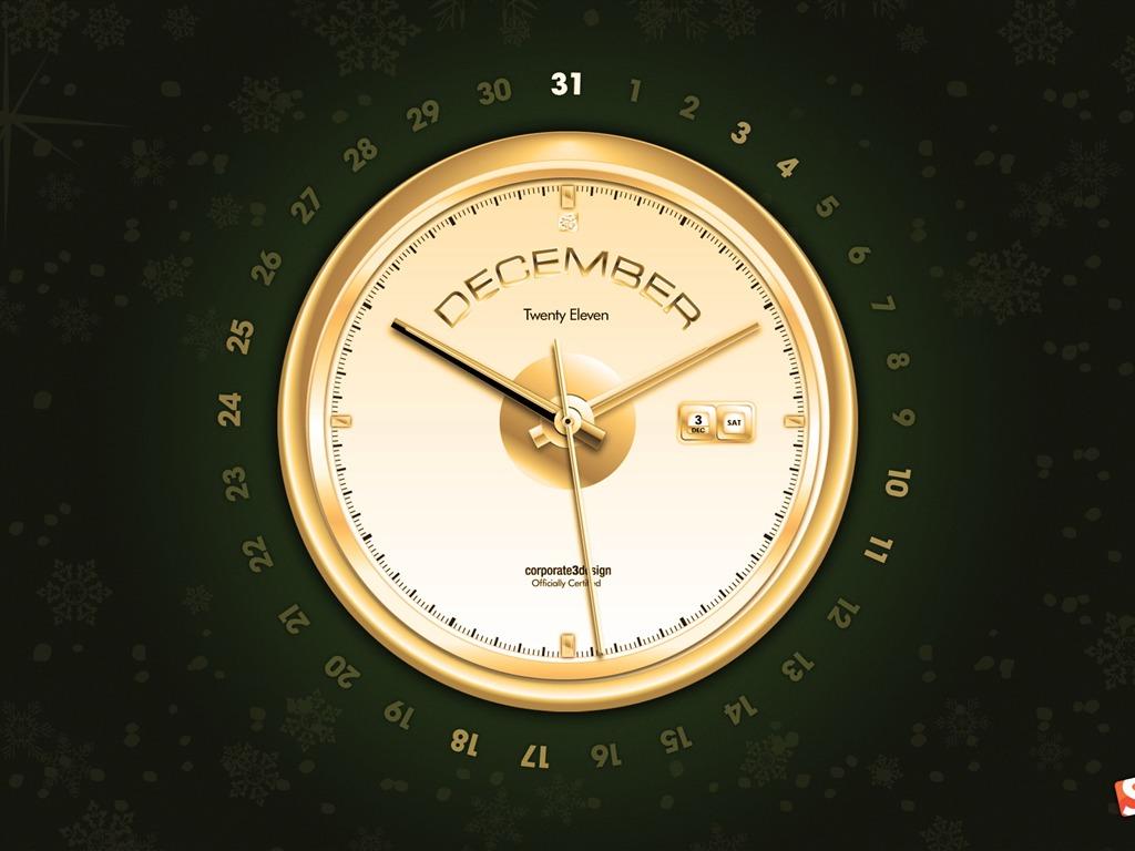 заставка на рабочий стол часы и календарь № 180385 бесплатно