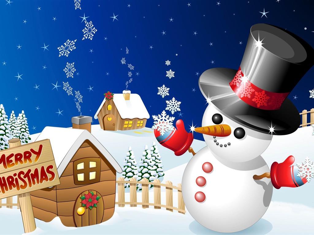 Aesthetic cute snowman Christmas HD computer wallpaper 03 ...