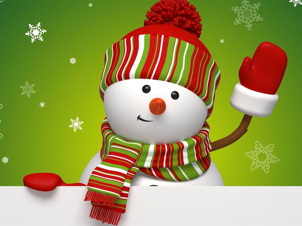 Cute snowman christmas hd computer wallpaper 07 1024x768 wallpaper