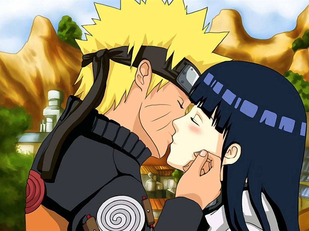 naruto and hinata kissing-Anime Character Wallpaper