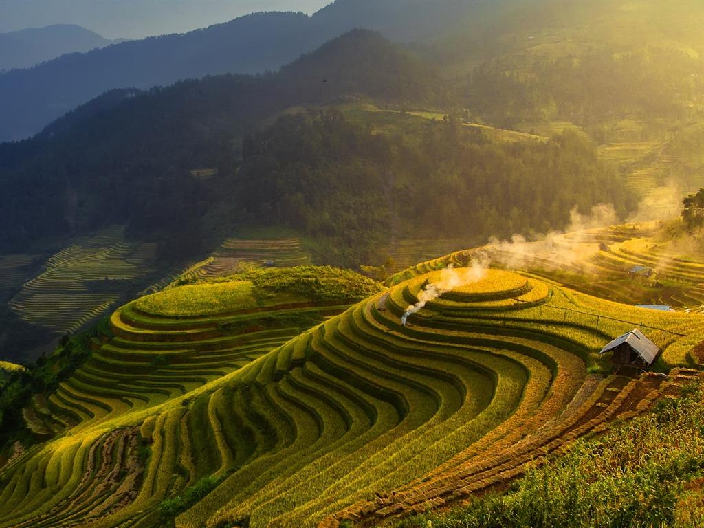 中国最美梯田风景 Windows 10 高清桌面壁纸预览 10wallpaper Com