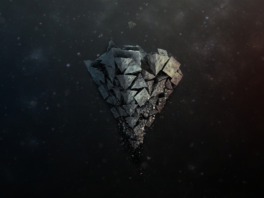 Shards Stone Background Light Design Theme Hd Wallpapers