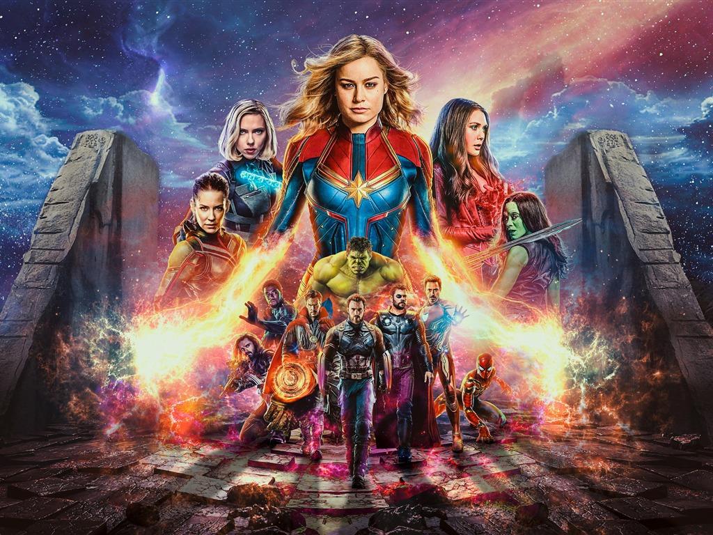 captain marvel avengers endgame 2019 pel237cula avance