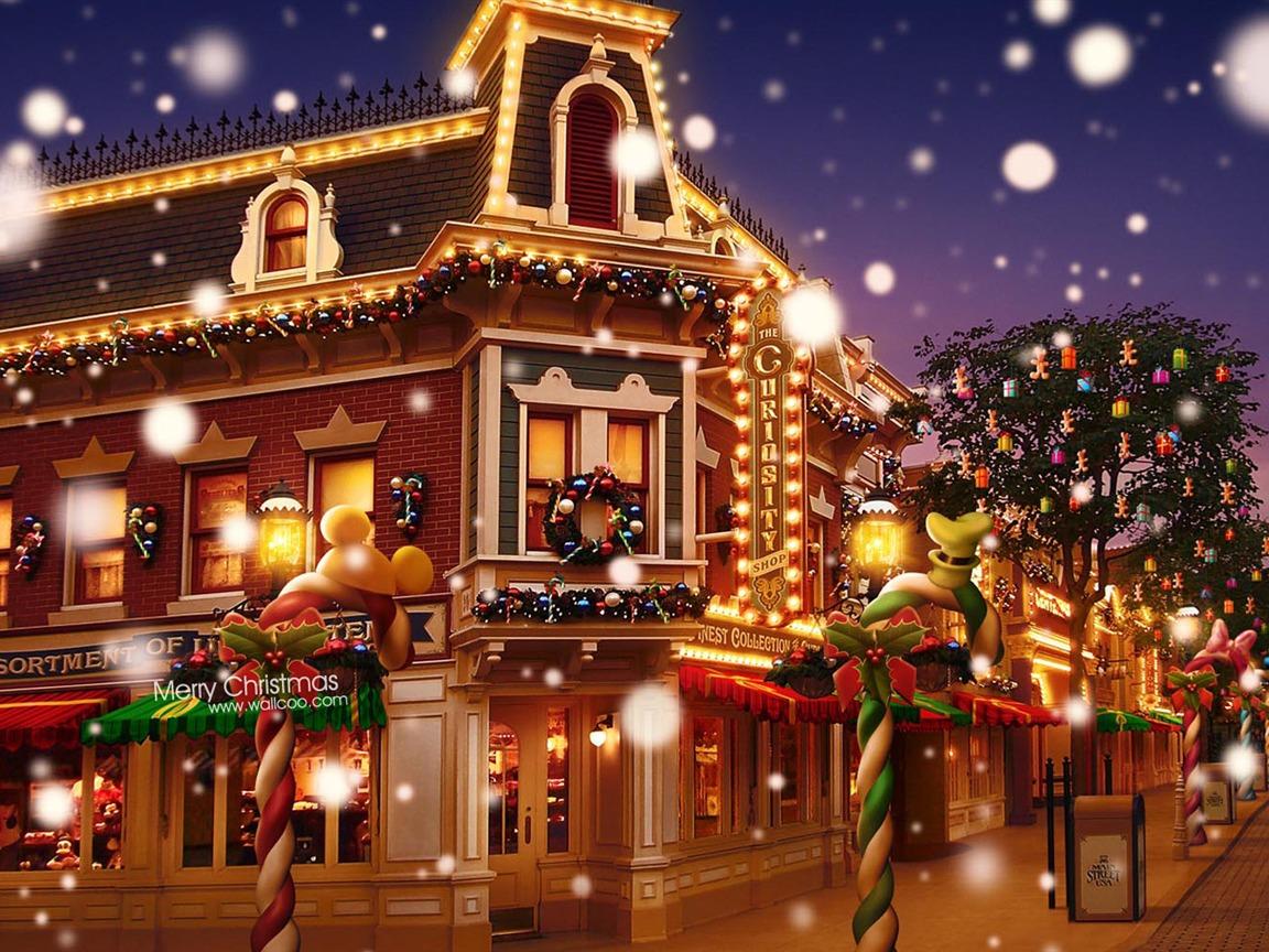 ドリームクリスマスタウン ディズニーランドカラフルなクリスマスの