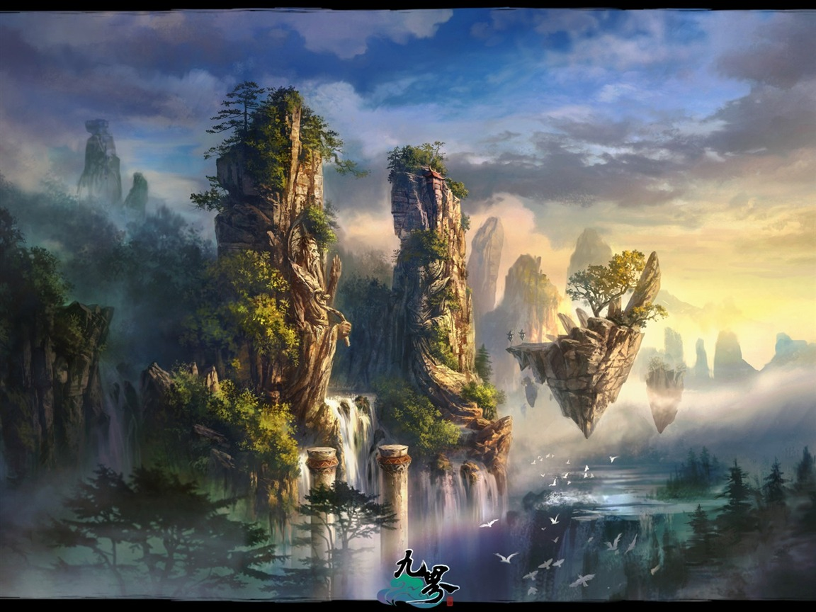 3d fantasy masterpiece nine world the official game - Fantasy game wallpaper ...