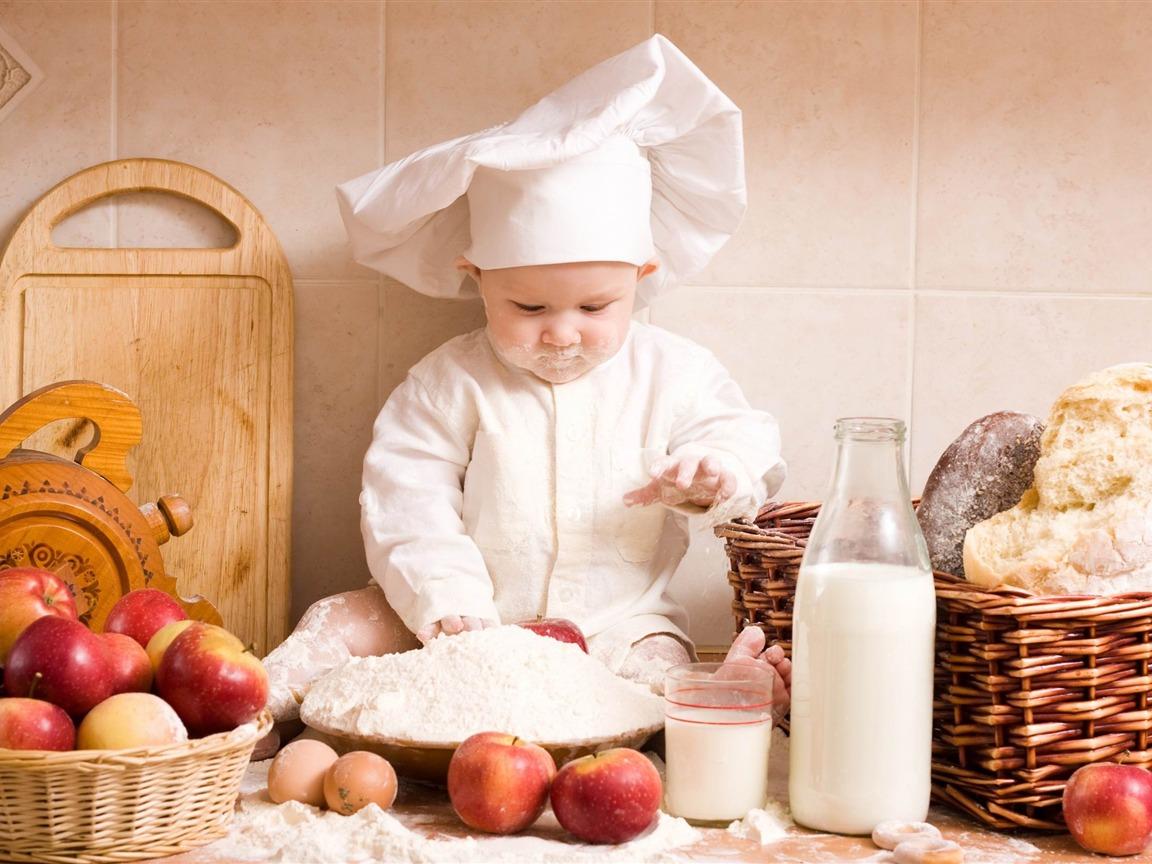 chef de cuisine cute baby photographie fond d 39 cran 1152x864 t l chargement. Black Bedroom Furniture Sets. Home Design Ideas