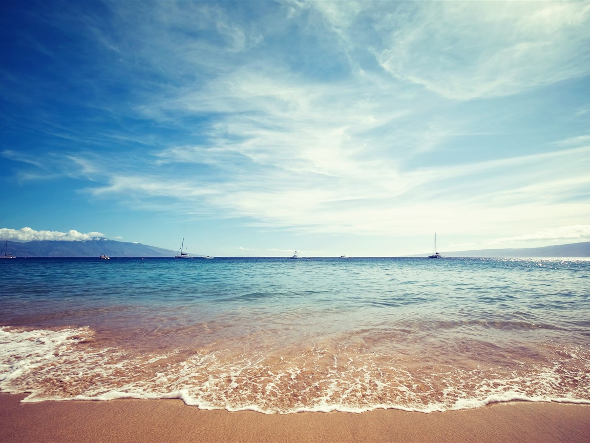 Beautiful Beach Scenes Scenery Hd Wallpaper Preview
