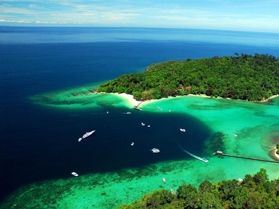 Malaysia Tun Sakaran Marine Park-2016 Bing Desktop ...