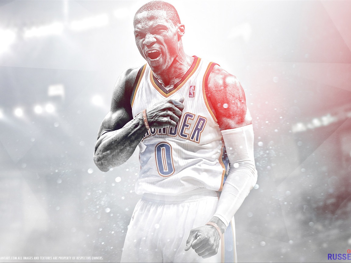 | 10wallpaper.com 拉塞尔·威斯布鲁克-2016篮球明星海报壁纸预览 Westbrook Russell