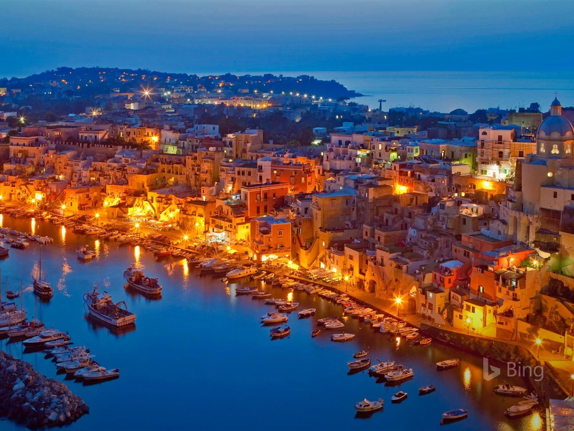 Procida Island in the Gulf of Naples Italy 2017 Bing Wallpaper Preview | 10wallpaper.com