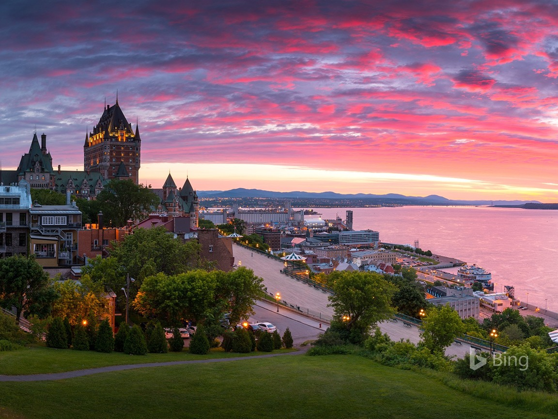 Que Panorama of Old Quebec City 2017 Bing Wallpaper