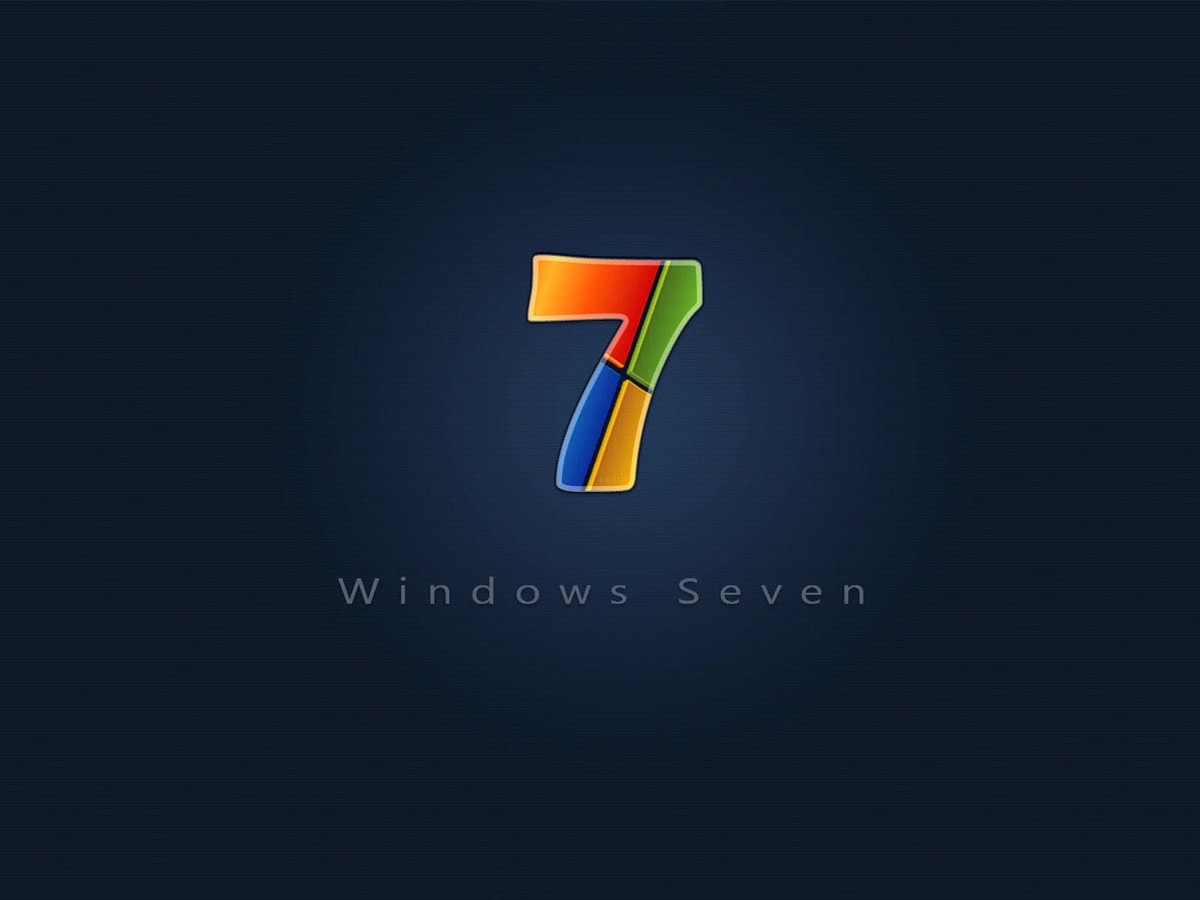 Colorful Windows 7 Brand Wallpaper Selection View