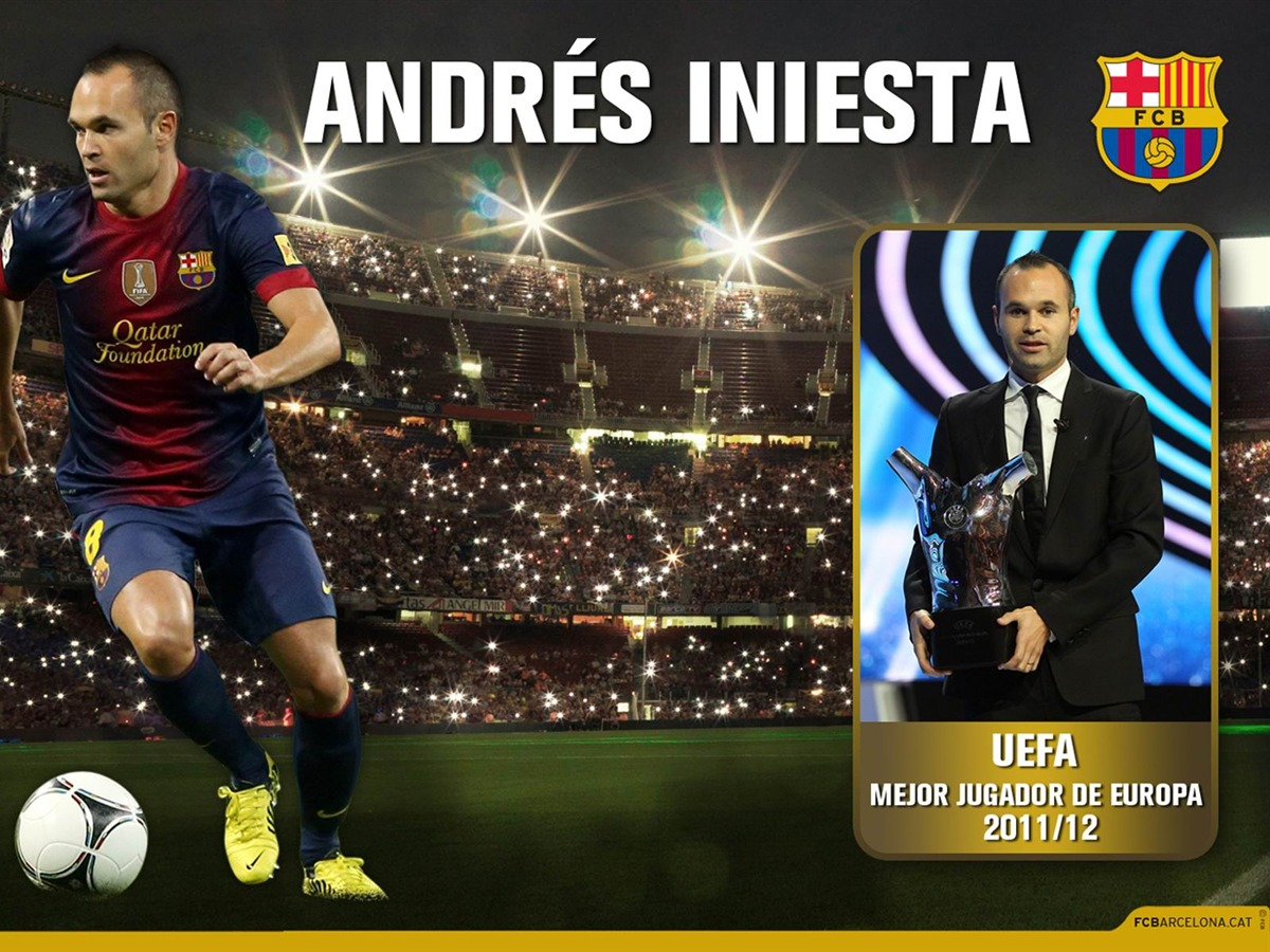 Andres Iniesta UEFA BEST PLAYER IN EUROPE 2011-2012-FC Barcelona ...
