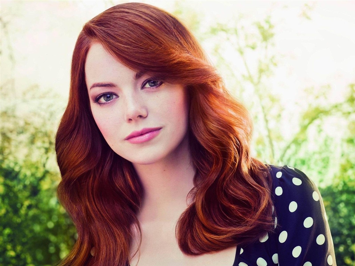 Description: emma stone face red hair person look-beauties Girls HD ...