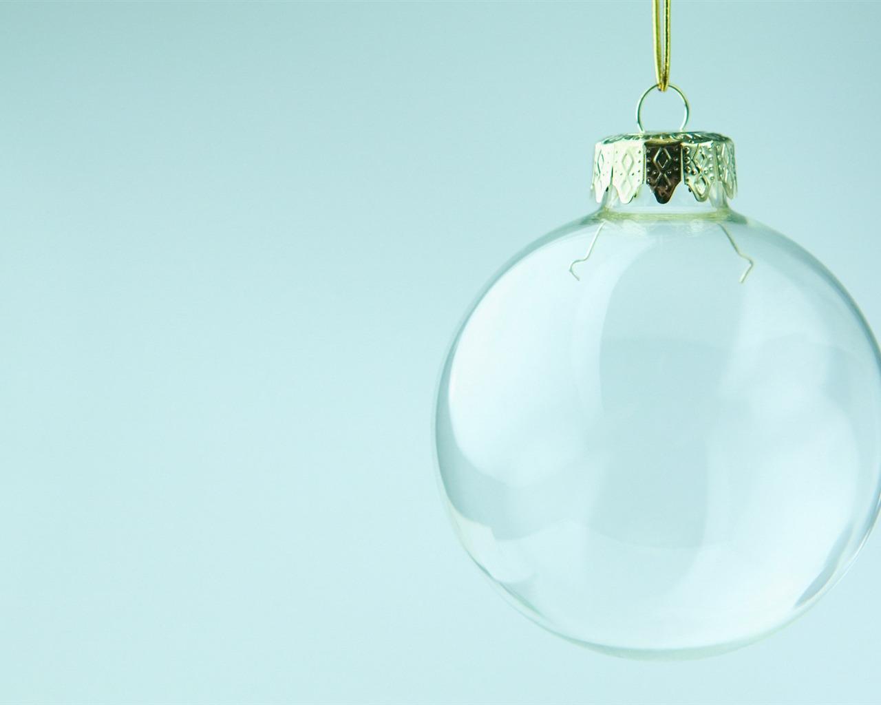 transparent glass christmas ball wallpaper preview. Black Bedroom Furniture Sets. Home Design Ideas