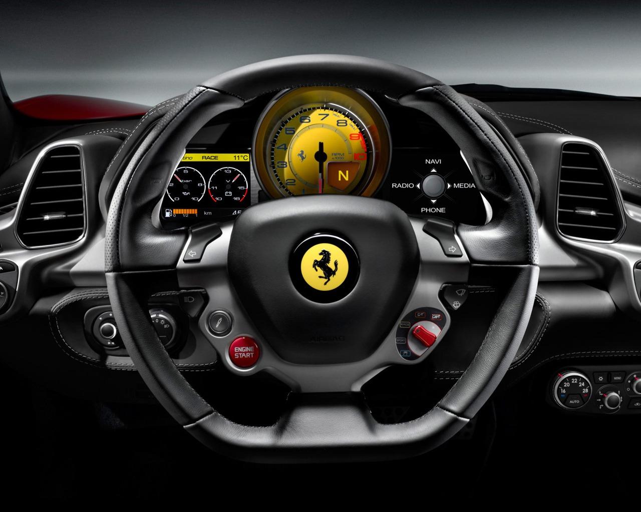 方向盘 法拉利458系列顶级跑车壁纸预览 10wallpaper Com