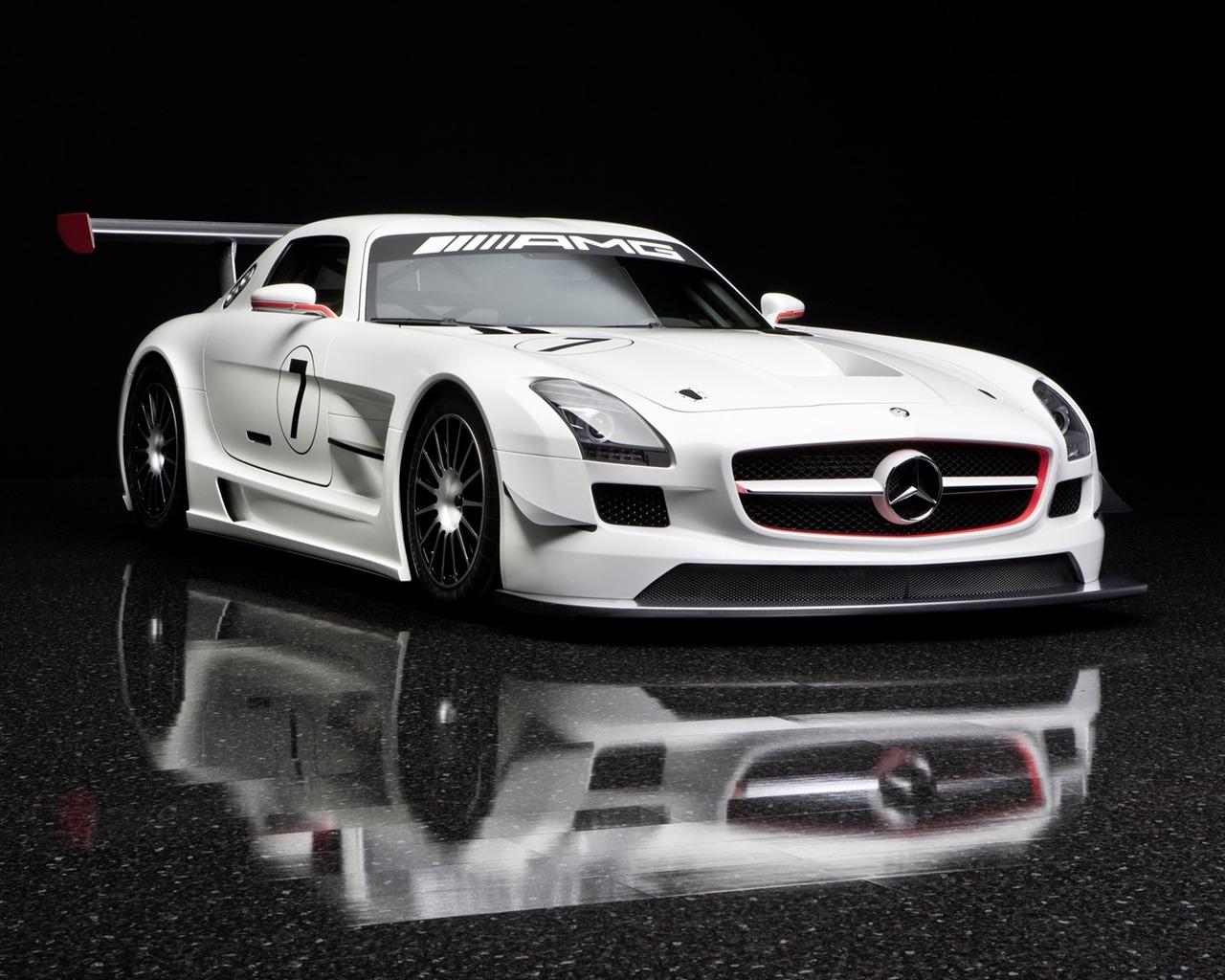 2011年梅赛德斯 奔驰sls amg的gt3 高清图片
