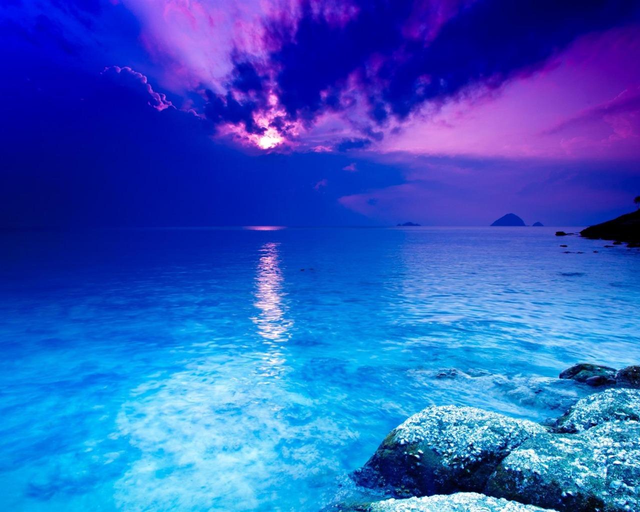 クリスタルブルー 世界で最も美しい風景の壁紙プレビュー