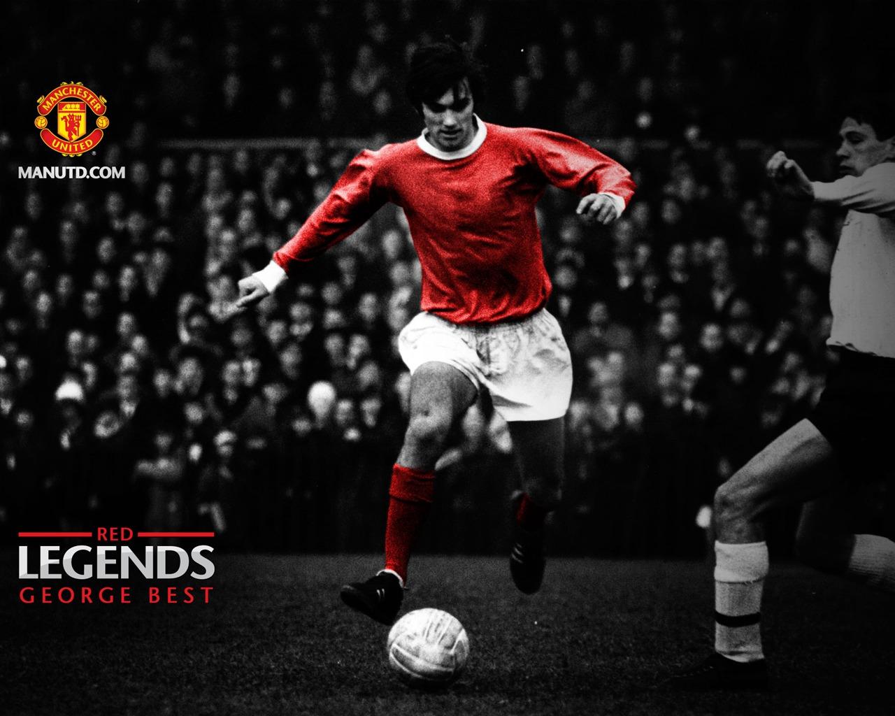 George Best Red Legends Manchester United Wallpaper