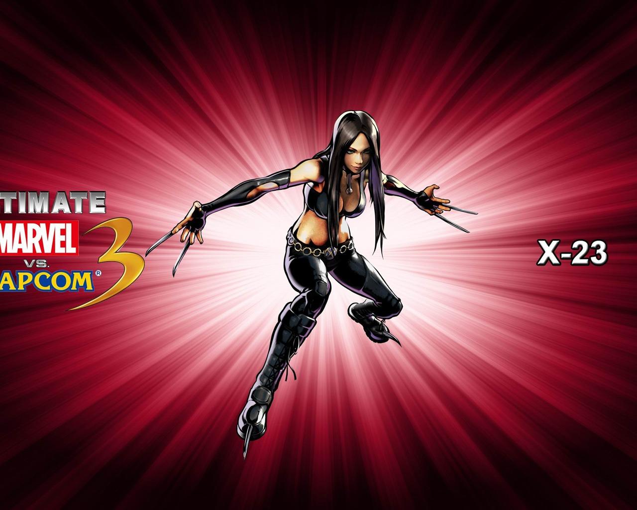 X 23 Ultimate Marvel Vs Capcom 3 Game Wallpaper Preview