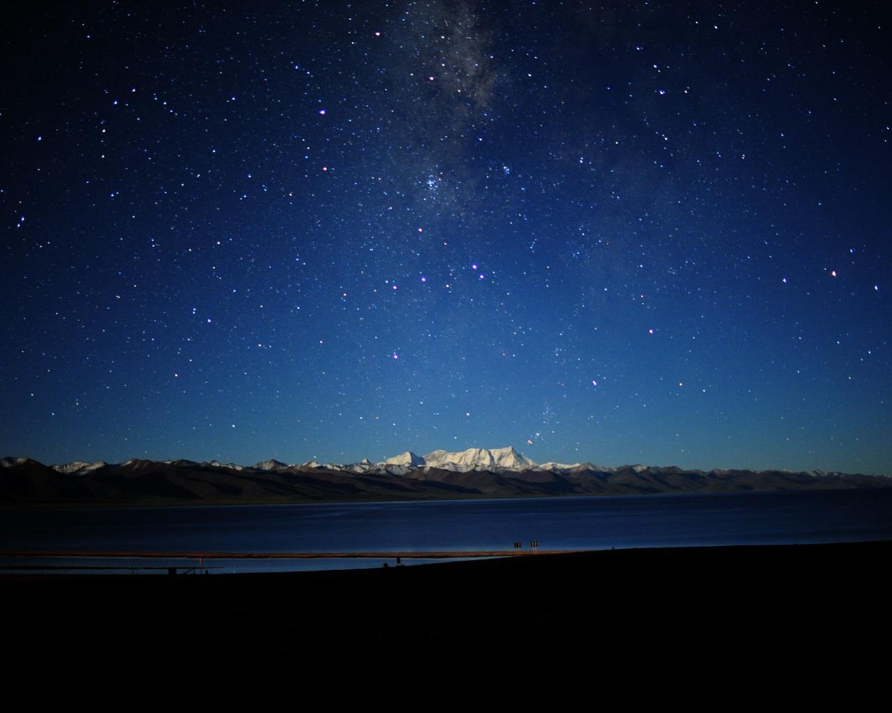 The night sky in Tibet-Natural Scenery Wallpaper - 1280x1024 wallpaper ...