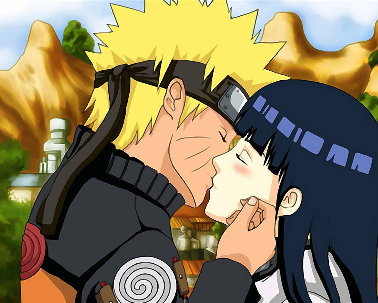Naruto And Hinata Kissing Anime Character Wallpaper Preview 10wallpaper Com