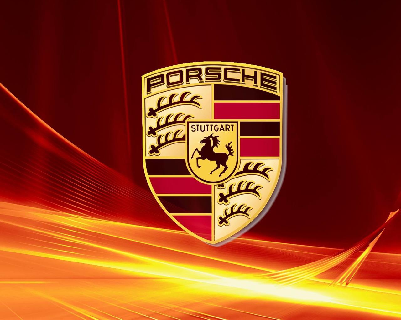 Porsche Logo Publicitaire De La Marque Fond D Ecran Apercu 10wallpaper Com