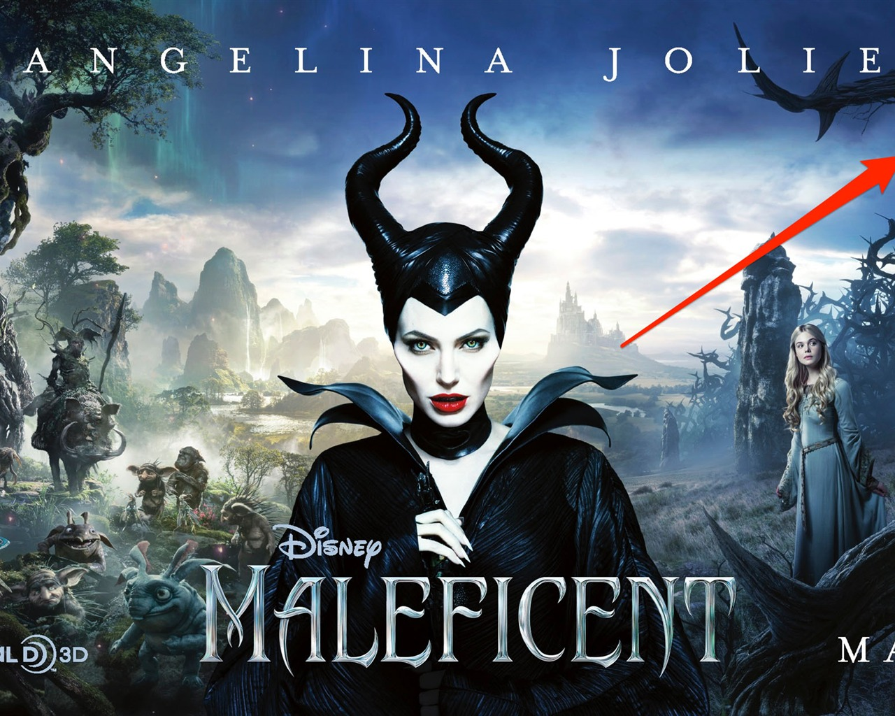 Maleficent Movie 2014 Hd Ipad Iphone Wallpapers: Maleficent 2014 Movie HD Desktop Wallpaper 04 Preview