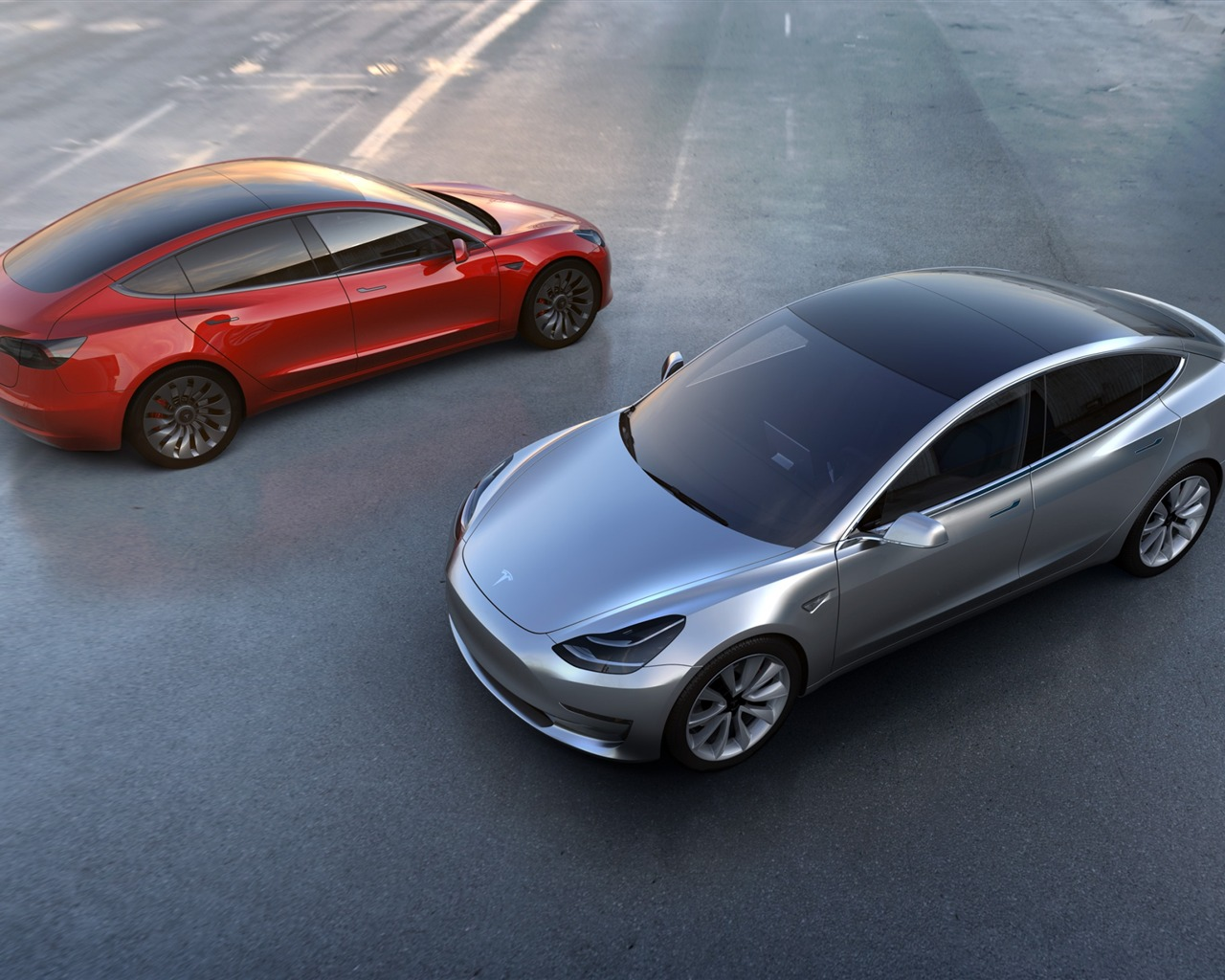 Honda Coupe 2017 >> Tesla model 3-豪华轿车高清壁纸预览 | 10wallpaper.com