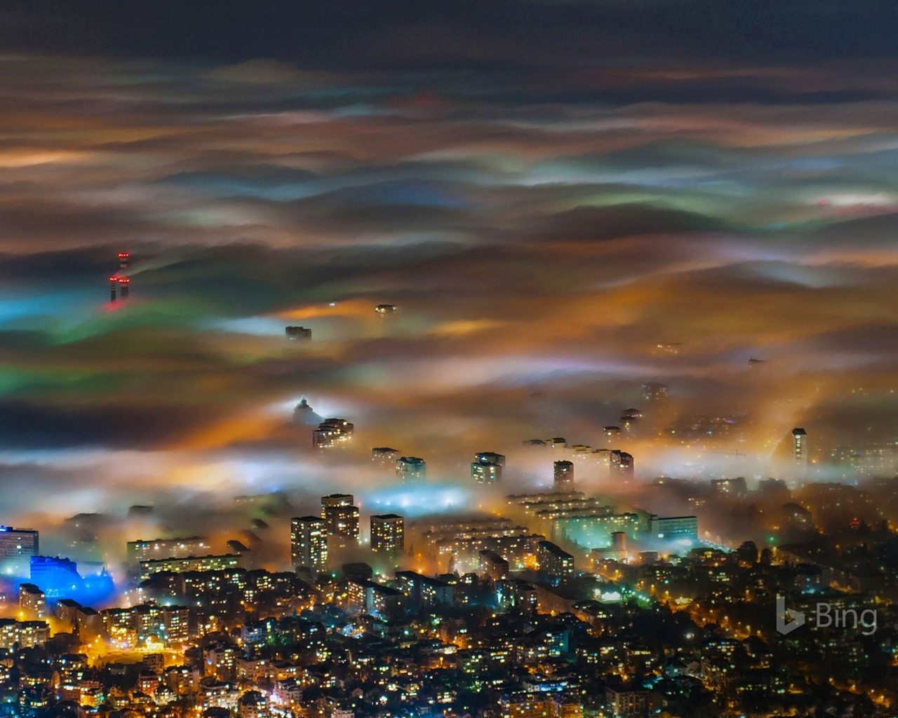 Bulgaria Fog Over Sofia 2016 Bing Desktop Wallpaper