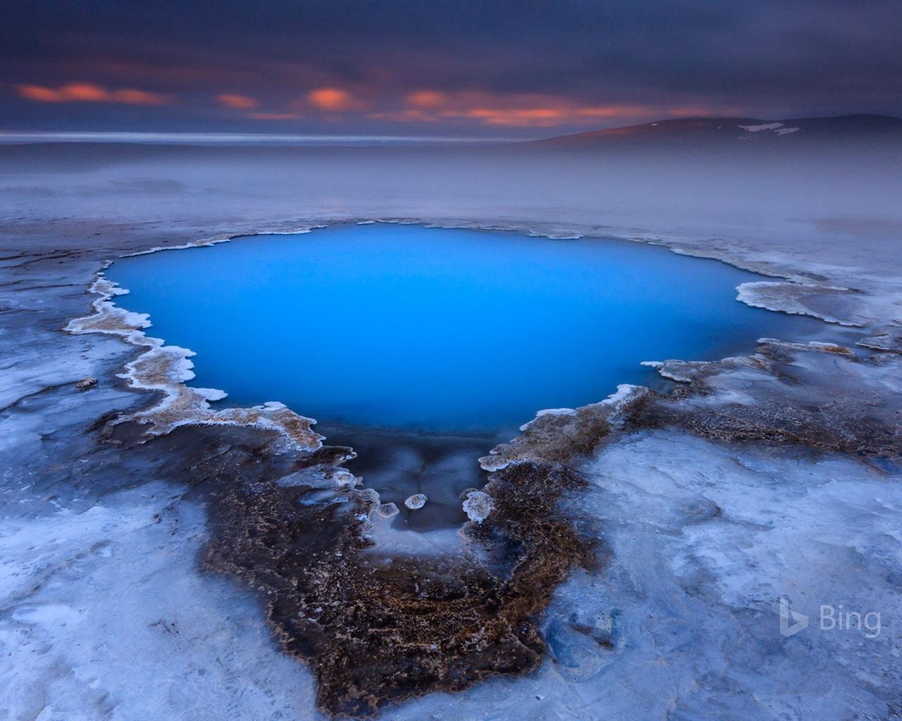hveravellir source chaude sur le plateau de kjolur islande