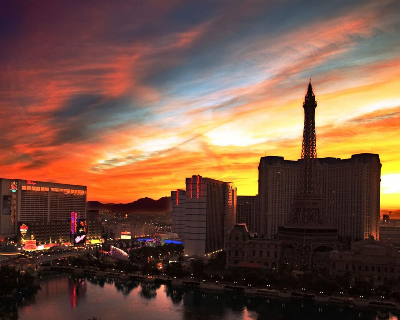 Las Vegas Sunset Cities Hd Wallpaper Preview 10wallpaper Com