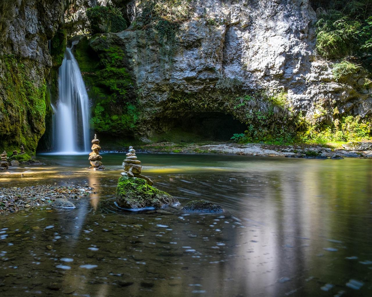 Jungle Waterfall Wallpaper Hd: Jungle Waterfall River Summer Sunshine 4K Ultra HD