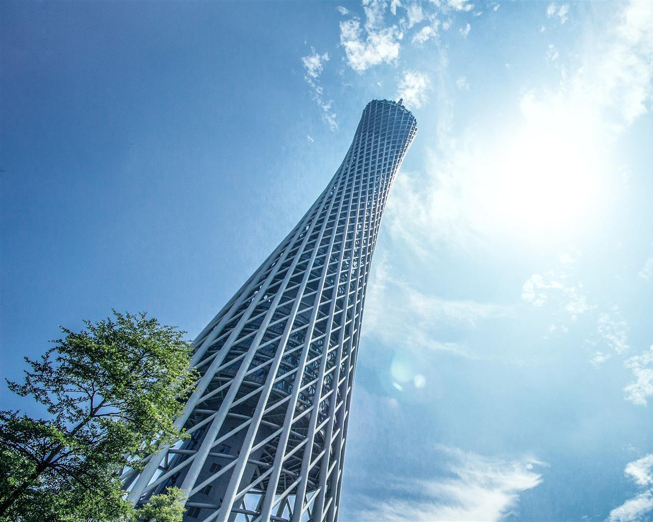 Guangzhou China Landmark Guangzhou Tower Sky Preview ...