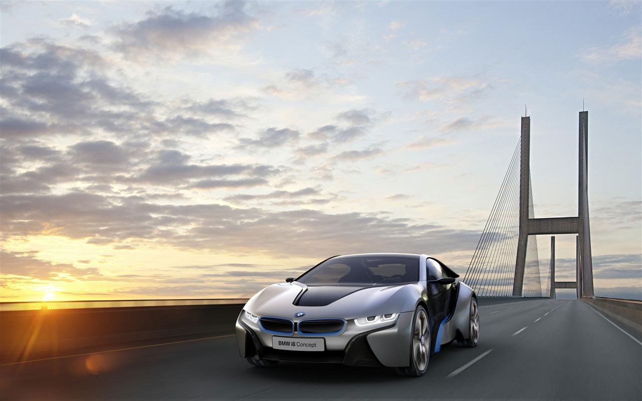 BMW i8 brand concept car HD wallpaper 05 - 1280x800 ...