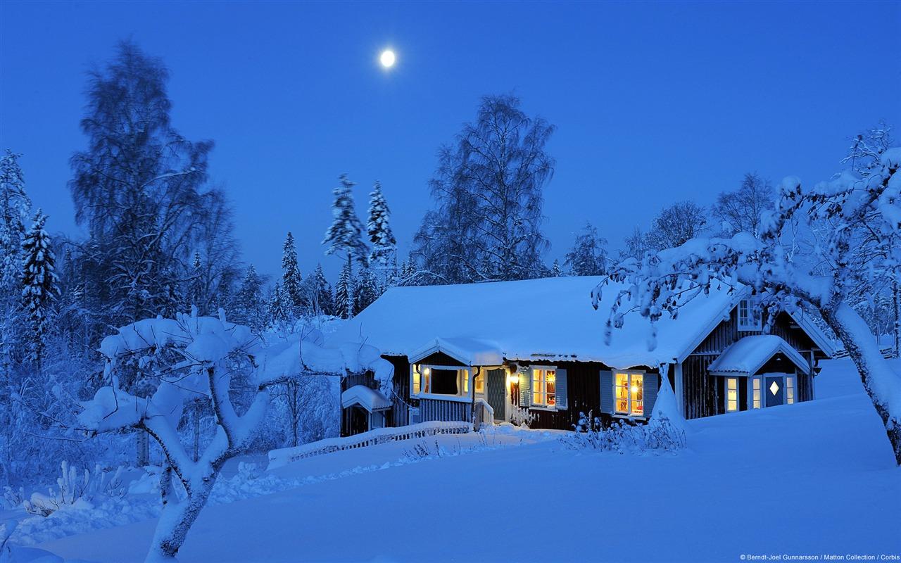 Winter Rural House In Sweden Windows Hd Wallpaper Preview