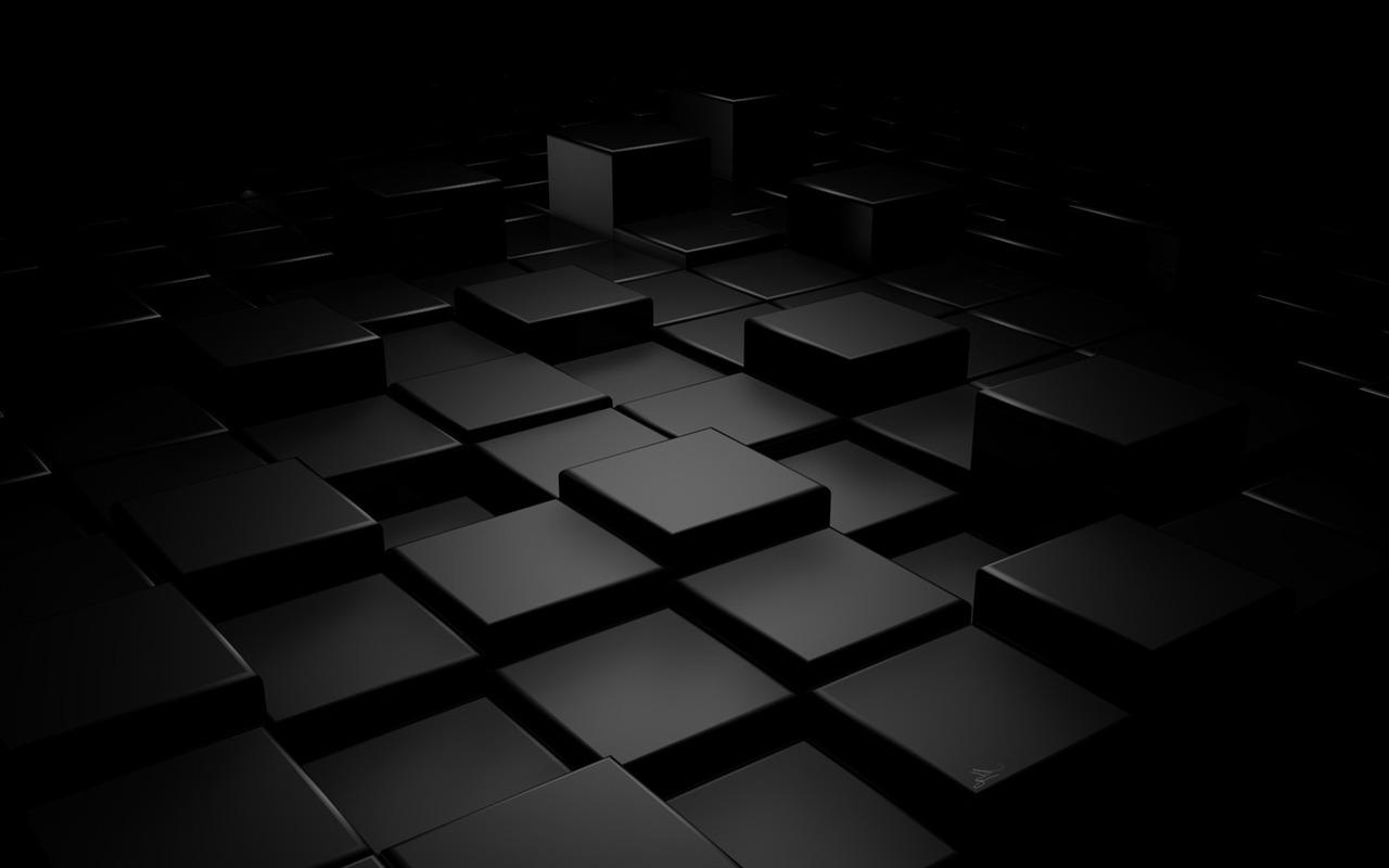 3d Black Square Hd Widescreen Wallpaper Preview