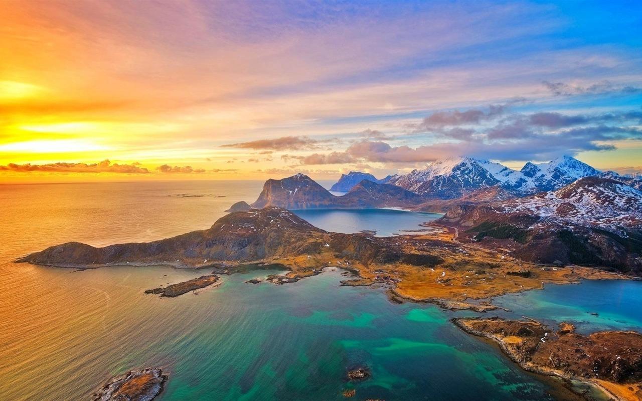 Lofoten islands sunset nature hd wallpaper 1280x800 - Wallpapers 1280x800 nature ...