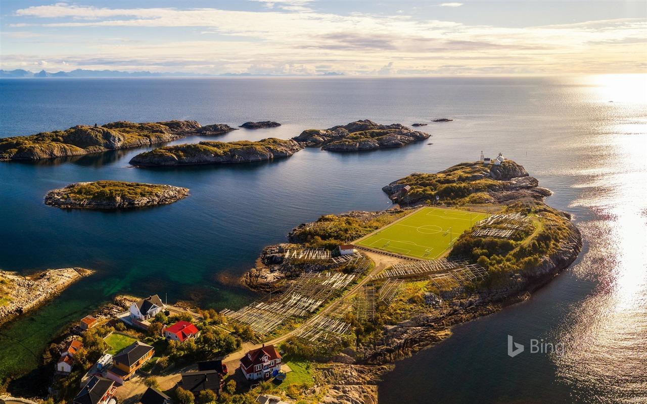 Norwegian Islands Football Stadium Landscape 2018 Bing