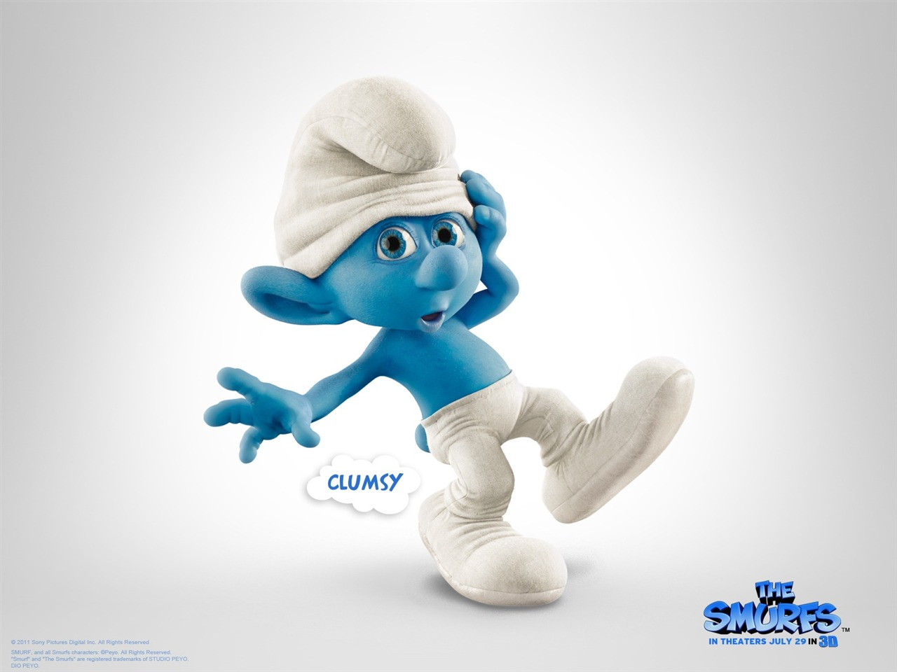 Smurf Clumsy Wallpaper