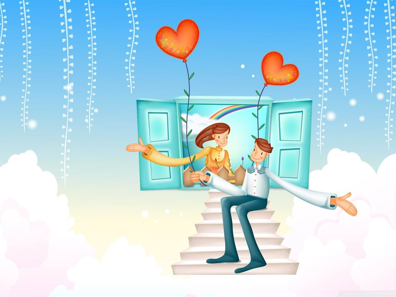 With Love Valentines Day-Romantic Valentines Day Vector
