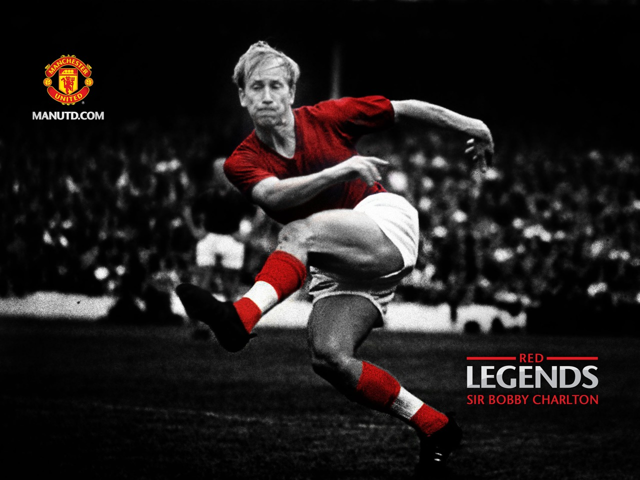 Sir Bobby Charlton Red Legends Manchester United Wallpaper