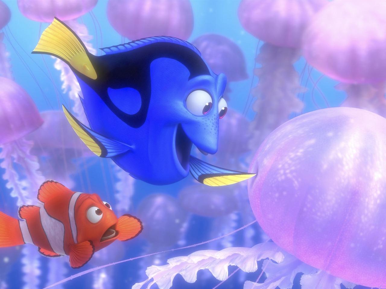 Finding Nemo D Animasi Hd Wallpaper: Nemo 3D 영화 HD 데스크탑 벽지 02 찾기시사
