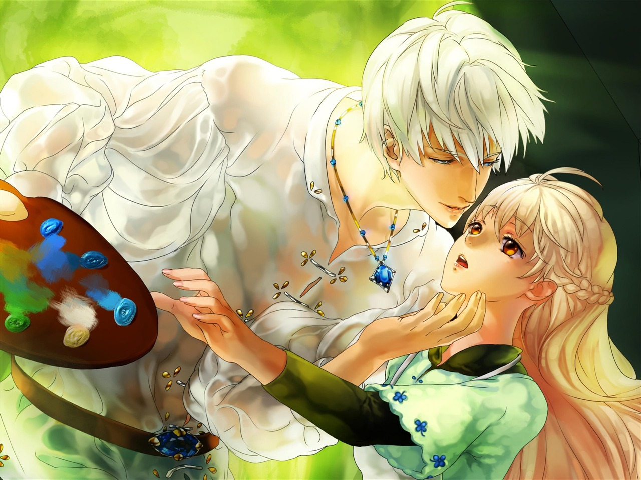 Anime Boy And Girl In Love Wallpaper : garcon Fille-Anime dessin fonds d ?cran HD-1280x960 T?l?chargement 10wallpaper.com