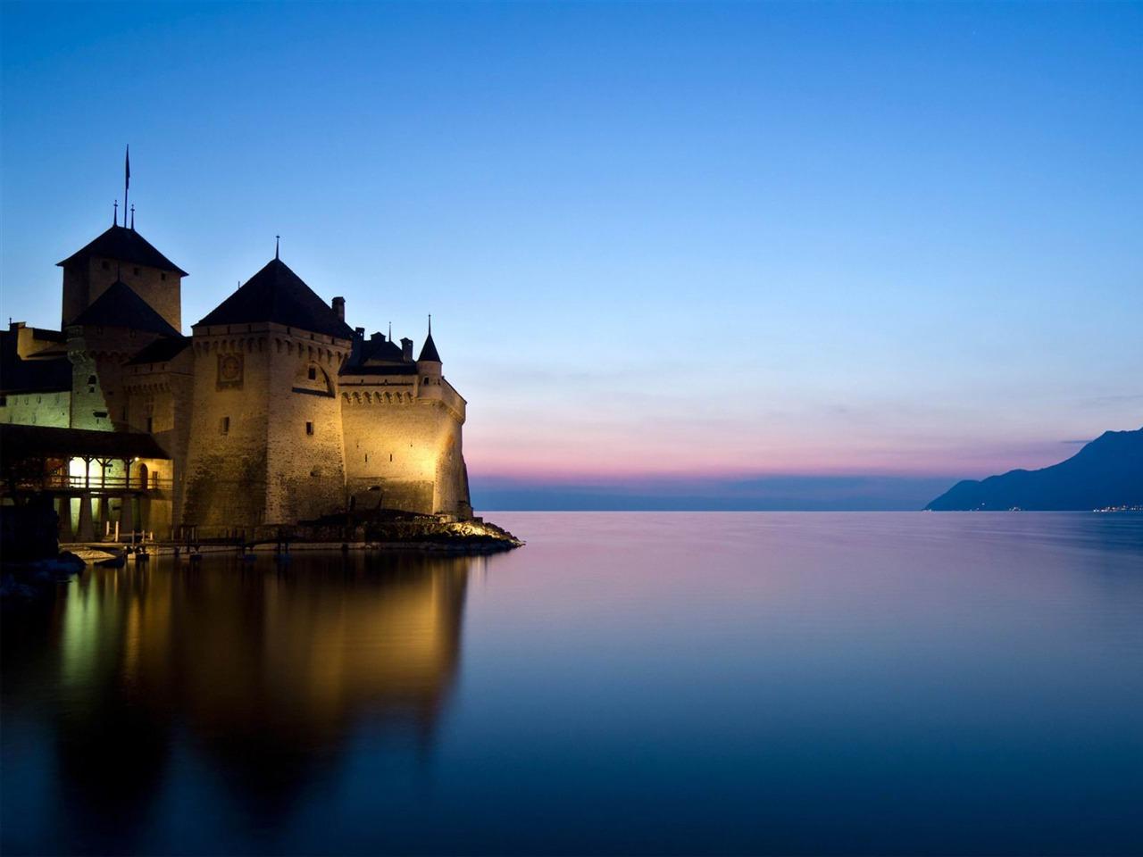 德国人_西庸城堡瑞士-世界风景高清摄影壁纸预览   10wallpaper.com