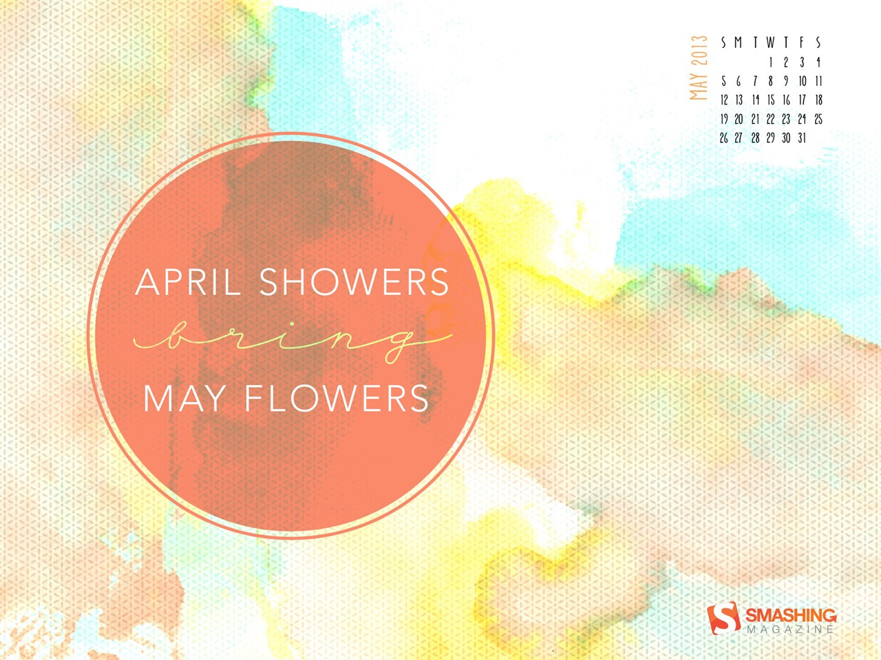 April Showers Bring May Flowers 2013 calendar desktop wallpapers View