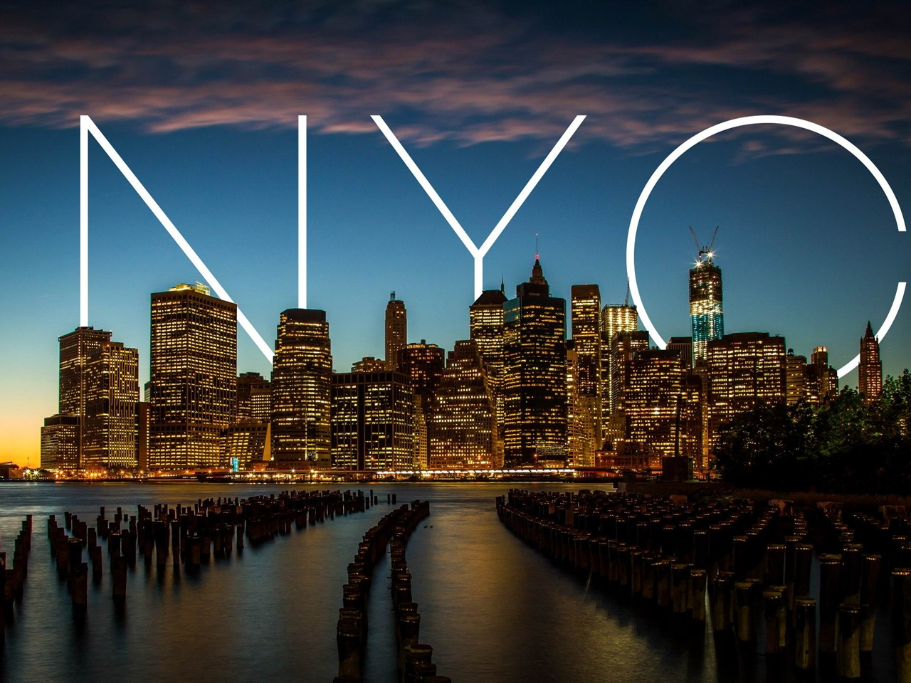 City / NYC New York Sunset-landscape HD wallpaper