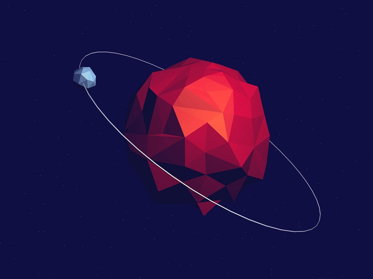 Abstract Planet Vector Art Design Hd Wallpaper Preview