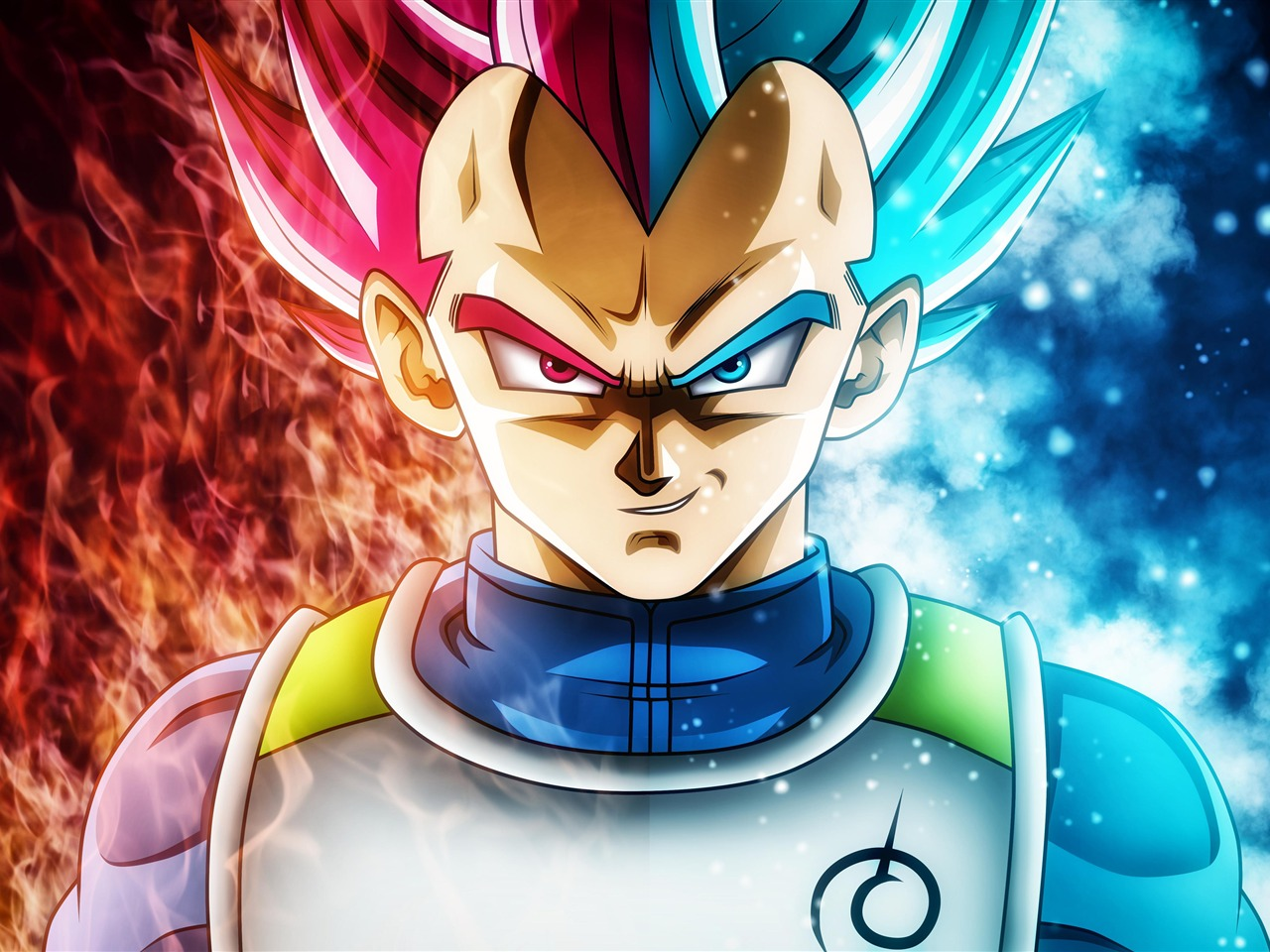 Red Blue Flame Vegeta Dragon Ball Super Ultra Hd Preview